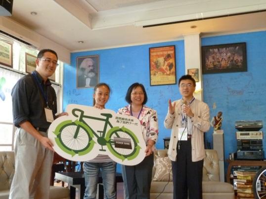 立凱電贊助新社國小發電腳踏車